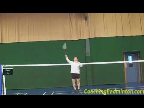 Badminton: Drop Shot from the right rear court