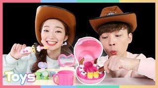 콩순이 아기하마 양치 놀이 장난감 역할놀이l 캐리와장난감친구들