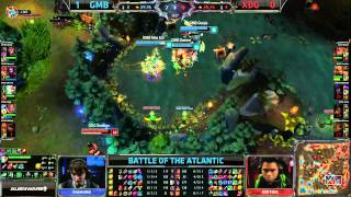 Gambit Gaming vs XDG Game 2 | EU vs NA Battle of the Atlantic 2013 | GMB vs XD.GG G2 Bo3