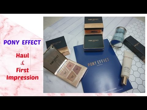 [First Impression] PONY EFFECT HAUL♥氣墊粉餅真的好用嗎? ║ Eunice's Planet