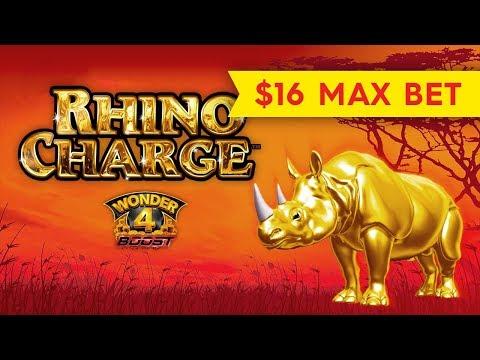 BETTER THAN JACKPOT - Wonder 4 Boost Rhino Charge Slot - BIG WIN BONUS!