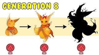 New Gen 8 Starter Fire Type Evolution | Pokemon Gen 8 Fanart #15