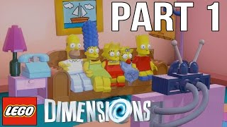 LEGO Dimensions Walkthrough Part 1 - The Simpsons! (Gameplay Let's Play)