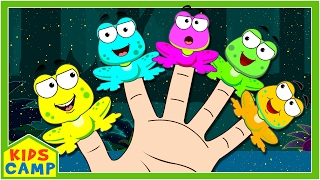 Learn Colors with Frogs Finger Family by KidsCamp | Finger Family Songs Collection