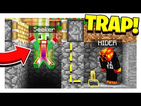 MINECRAFT HIDE AND SEEK HOW TO TRAP A SEEKER Minecraft Mods