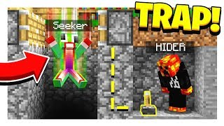 MINECRAFT HIDE AND SEEK!   HOW TO TRAP A SEEKER! - Minecraft Mods