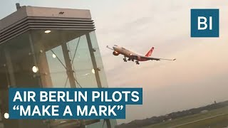 This Air Berlin flight flew incredibly close to a control tower