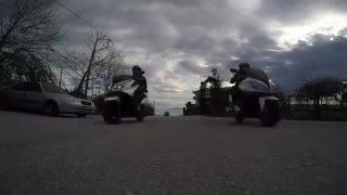GoPro : timelapse video on my Kymco Downtown 300i
