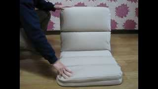 Super Comfy Foldable Floor Seating Chair 5 level of Adjustable Reclining Back