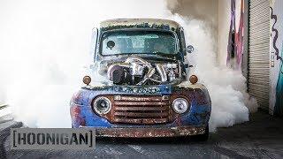 [HOONIGAN] DT 075: 1200HP Twin Turbo Diesel Burnouts (Old Smokey F1)