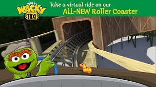 Oscar's Wacky Taxi Wooden Roller Coaster POV Sesame Place NEW in 2018