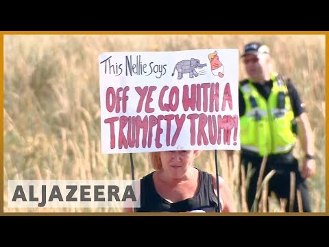 🇺🇸 🇬🇧 Trump in the UK: Thousands protest for second day   Al Jazeera English
