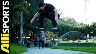 How To Nollie Heelflip, Mike Mo Capaldi, Alli Sports Skateboard Step By Step Trick Tips