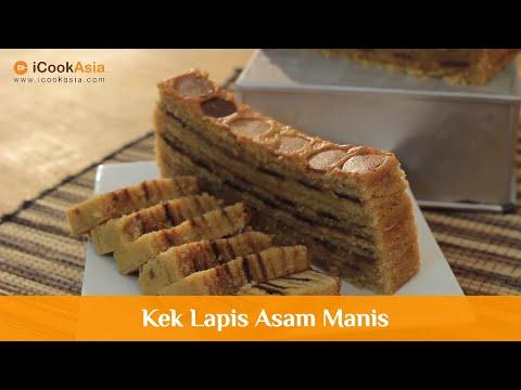 Kek Lapis Asam Manis | Try Masak | iCookAsia