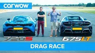 McLaren 720S v 675LT DRAG RACE, ROLLING RACE & BRAKE TEST   Mat vs Shmee pt 1/4