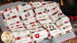How to Personalize the Embroidery on the Hometown Christmas Quilt | A Shabby Fabrics Tutorial