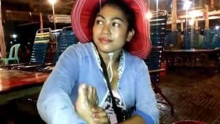 Cambodia Nightlife NIght Food Massage At Sihanoukville O Chheu Teal Beach