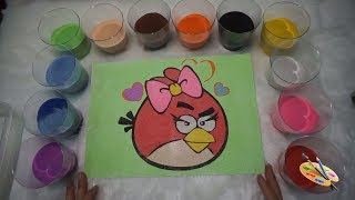 Sand Art for Children I Angry Bird Sand Painting I How to Make Sand Painting