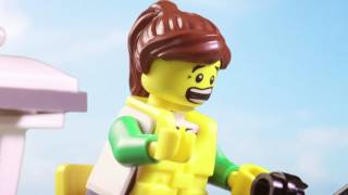 Shark Prank - LEGO Stop Motion Movie - Shark Week