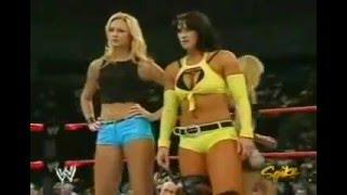 WWE RAW 9/20/2004 Stacy Keibler & Victoria vs. Trish Stratus & Molly Holly