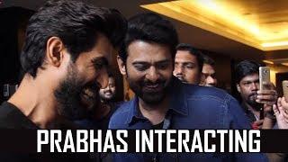 Prabhas & Rana interacting with world