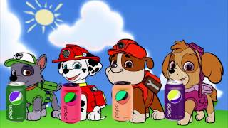 Colors for children, Learn colors with dog cartoon domestic animals, dog drink pepsi ❀ KidsMood