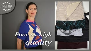 How to recognize poor vs. good quality in clothes (in 5 points) | Justine Leconte