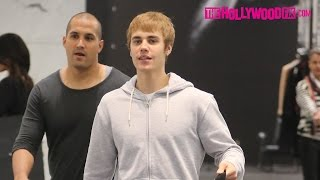 Justin Bieber Goes On A Shopping Spree At YSL & Makes Fun Of The Paparazzi In Beverly Hills