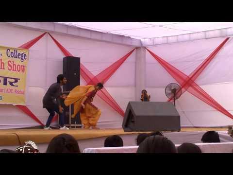Desi Bhangra Dance Performance by Simran & Sahil at Pt. Neki Ram Sharma Govt. College, Rohtak