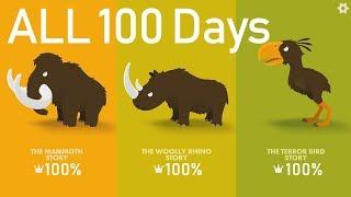 Big Hunter All 100 Days | Mammoth, Rhino, Terror Bird