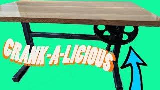 Adjustable Height Desk | Hand Crank Drafting Table DIY