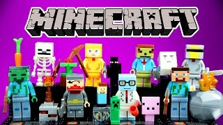 LEGO Minecraft with Micro Mobs KnockOff Minifigures Steve Enderman Creeper