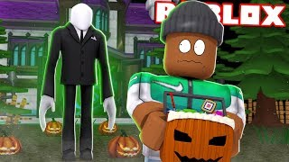 ESCAPE SLENDERMAN!! - Roblox Halloween