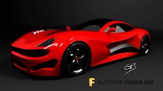 Car Design Speedrun 5 - Using Autodesk Fusion 360 - supersport GT