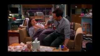 Sheldon applied vaporub on Amy's chest- The Big Bang Theory S6x10