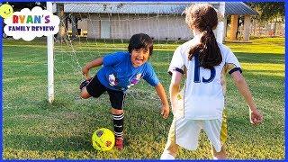 Ryan's First Soccer Practice vs the big kids!!!