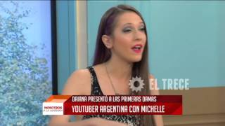 Daiana, la youtuber argentina, con Michelle Obama