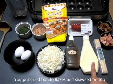 How to make Takoyaki☆たこ焼きの� �り方