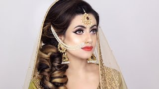 PAKISTANI TRADITIONAL BRIDAL MAKEUP | MEHNDHI LOOK