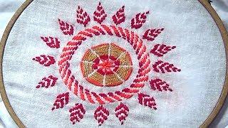 Nokshi Stitch ( Round design) নকশি সেলাই ( গোল ডিজাইন)