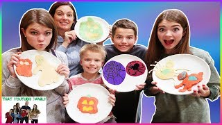 SPOOKY PANCAKE ART CHALLENGE / That YouTub3 Family