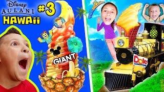 HAWAII ICE CREAM TOWER! Pineapple Everything @ Dole Plantation (FUNnel Vision Disney Aulani Part 3)