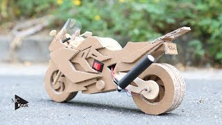 How to make Toy Motocycle(BMW F800GT) - Amazing Cardboard DIY