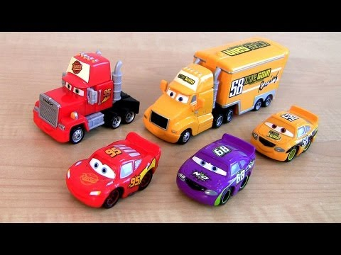Disney Cars Trucks Mack Semi Truck Octane Gain Hauler Lightning McQueen car toy Screaming Banshee