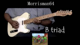 BARNEY THEME SONG  GUITAR play along with Chords