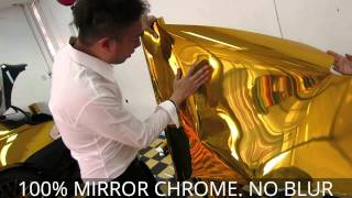 Gold Chrome BMW 6 Series Wrap Car by Tony Wrap Supercar Society www.tonywrap.com