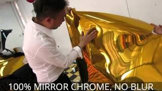 Gold Chrome BMW 6 Series Wrap Car by Tony Wrap Supercar Society www.tonywrap.com