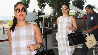 Pregnant Kareena Kapoor SPOTTED At Airport, Takes Off To Kerala To Celebrate Wedding Anniversary