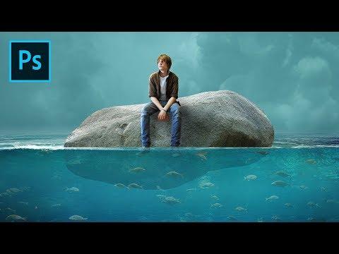 Photoshop Photo Manipulation Tutorial : Men and Pumice - Under Water Scene