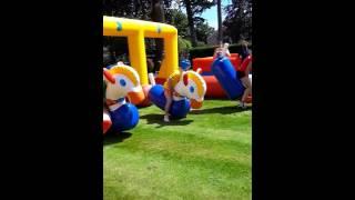 Inflatable Pony Hop Racing